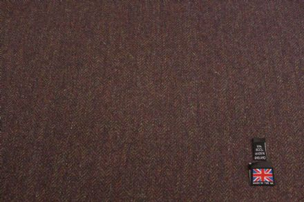 100% Pure New Wool Herringbone Tweed Fabric BZ47